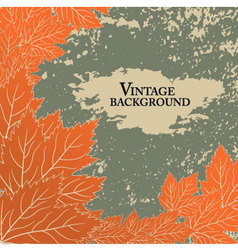 Autumn background in vintage style vector image