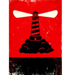 lighthouse red vector image vector image