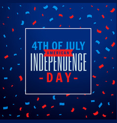 4th of july celebration party background vector