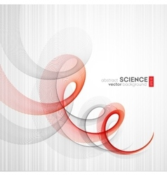 Abstract background futuristic wavy vector image