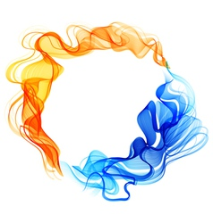 Abstract fire and ice white vector