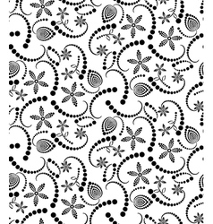 Abstract Halftone Flower Seamless vector image