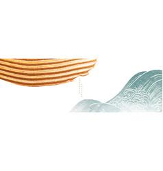 abstract landscape art banner design vector image