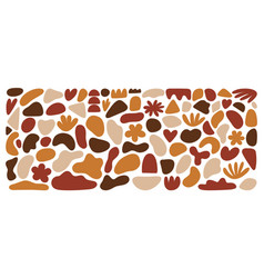 abstract organic shapes set terracotta colors vector image
