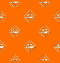 alebard pattern orange vector image
