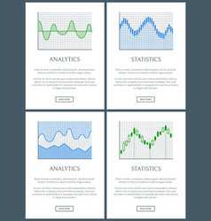 analytics and statistics text vector image