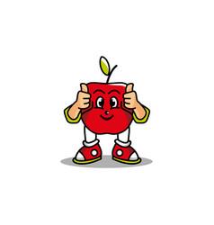 Apple design mascot vector