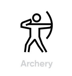 archery sport icons vector image