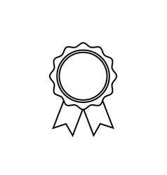 award line icon in flat style rosette symbol vector image