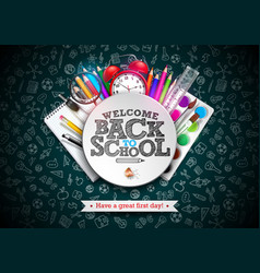 Back to school design with colorful pencil vector