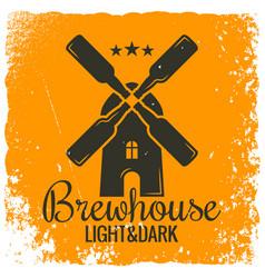 beer bottles concept vintage logo design vector image