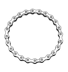 Bicycle chain in the form of a circle 3d design vector