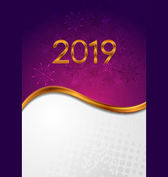 bright abstract 2019 new year winter background vector image