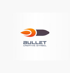 bullet creative symbol concept fire power flame vector image
