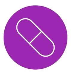 Capsule pill line icon vector image