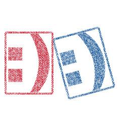 Colon textile stamps vector