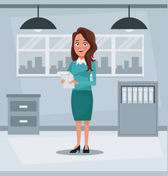 Colorful background workplace office with vector