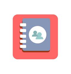 Contact flat icon vector