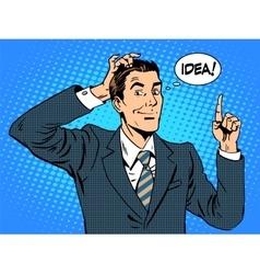 Creative business people businessman idea vector