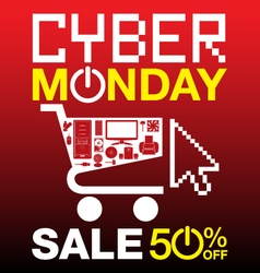 Cyber Monday background vector image