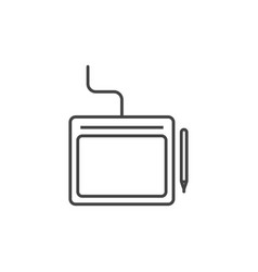 designer tablet and pen technology icon line vector image