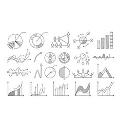 doodle infographic hand drawn business elements vector image