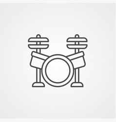 Drum icon sign symbol vector