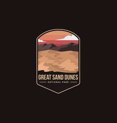 emblem logo great sand dunes national park vector image