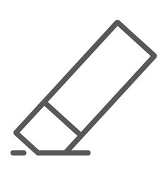 Eraser line icon tools and design rubber sign vector