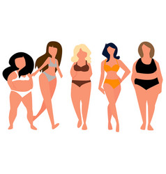 Fat woman with sea clothes vector