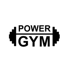 Fitness gym logo sign bodybuilding club emblem vector