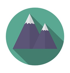 Flat design modern of snow caped mountain icon vector image