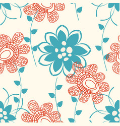 floral seamless pattern or background abstract vector image