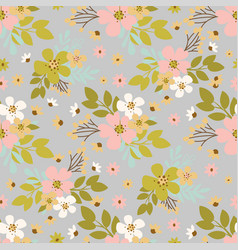 flower dust hand drawn seamless pattern vector image