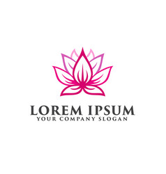 Flower lotus logo design concept template vector