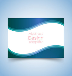 Flyer template wave design 2 vector