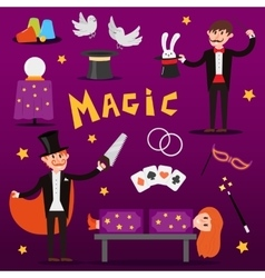 Focus magic symbols set vector image