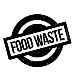 Food waste rubber stamp vector