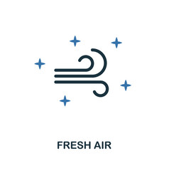 fresh air icon creative two colors design from vector image