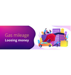 Fuel saving and gas mileage banner template vector