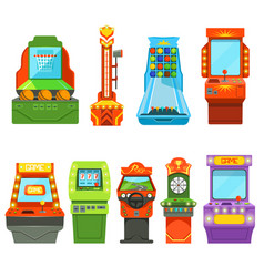 game machines pictures in cartoon style vector image