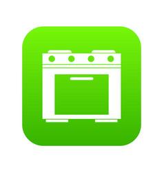 gas stove icon digital green vector image