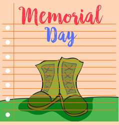 Greeting card memorial day design collection vector