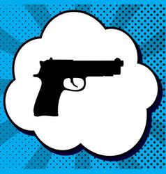 Gun sign black icon in vector