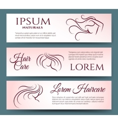 Hair care banners set vector