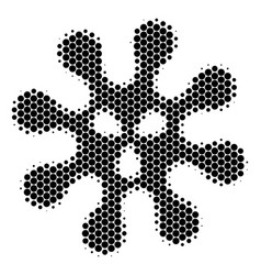 halftone dot virus icon vector image