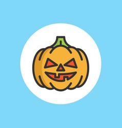 halloween pumpkin icon sign symbol vector image