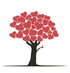 hearts tree vector image