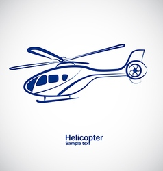 Helicopter 3 vector image