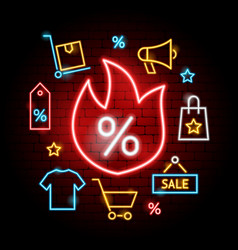 hot sale neon concept vector image
